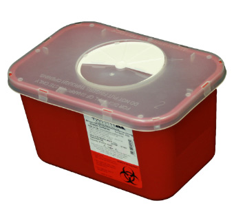 1 Gallon Sharps Container Rotary Lid