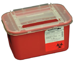 1 Gallon Sharps Container Slide Lid